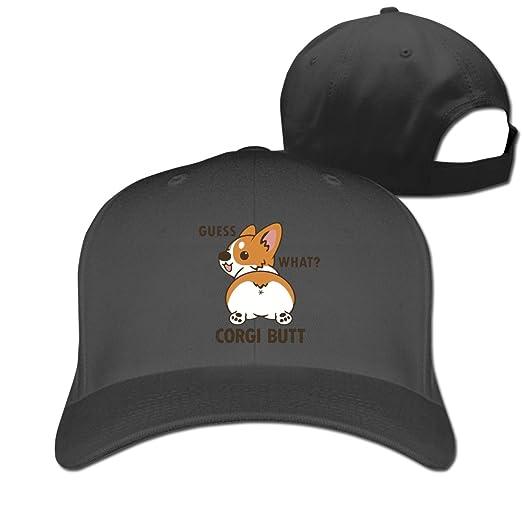 5b64c34b40a4d Guess What Corgi Butt Mens Adjustable Baseball Hip-hop Caps at Amazon Men s  Clothing store
