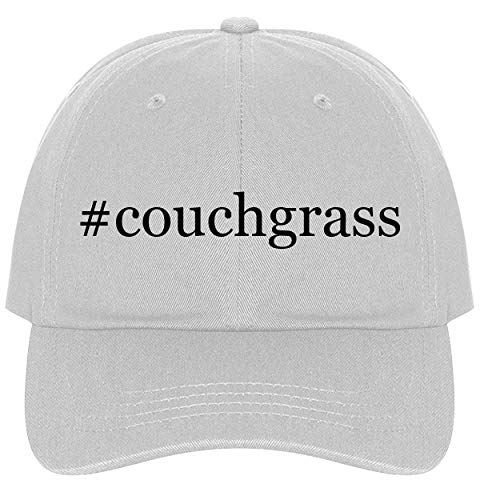The Town Butler #couchgrass - A Nice Comfortable Adjustable Hashtag Dad Hat Cap, White, One Size ()