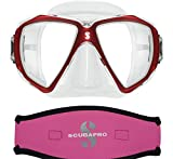 Scubapro Spectra Mask, Red w/Neoprene Strap Cover