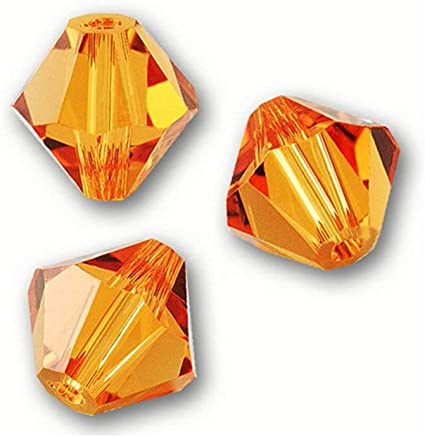 Gorgeous 5301# 4 mm Bicone Crystal beads 100 Pieces Orange AB