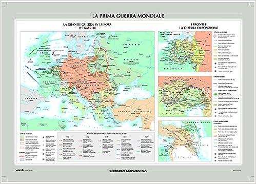 Cartina Storica Prima Guerra Mondiale.Amazon It La Prima Guerra Mondiale E Il Mondo Nel 1914 Carta Murale Storica Libri