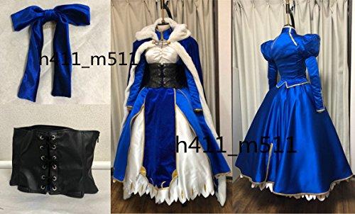 「ノーブランド品」Fate/Grand Order セイバーアルトリア コスプレ衣装+髪飾り+マント