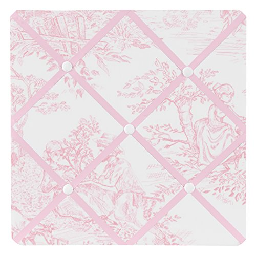 Sweet Jojo Designs Pink French Toile Fabric Memory/Memo Photo Bulletin Board