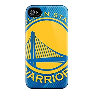 Shock Absorbent Hard Cell-phone Case For Iphone 4/4s (fUt13803mXzI) Support Personal Customs Colorful Golden State Warriors Series