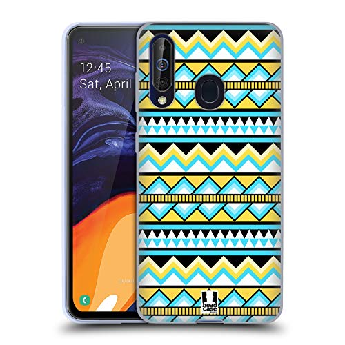 Head Case Designs Yellow and Blue Aztec Patterns S2 Soft Gel Case Compatible for Samsung Galaxy A60 / M40 (2019) (Galaxy S2 Case Aztec Samsung)