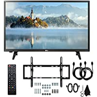 LG 28LJ400B-PU 28 Class HD 720p LED TV (2017 Model) with Slim Flat Wall Mount Kit and Two (2) 6 Foot HDMI Cables Ultimate Bundle