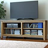 "Ryan Rove Mission 58"" Modern Wood Storage TV Stand Console Entertainment Center in Natural"