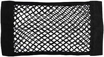 Red de Malla para Almacenamiento de Maletero de Coche con Bolsillos de Malla para el Asiento Trasero Negro Negro 2 Pack Konesky