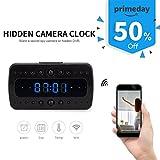 FREDI HD 1080P Wifi Hidden Camera Alarm Clock Night Vision/Motion Detection/Display Temperature Home Surveillance Cameras