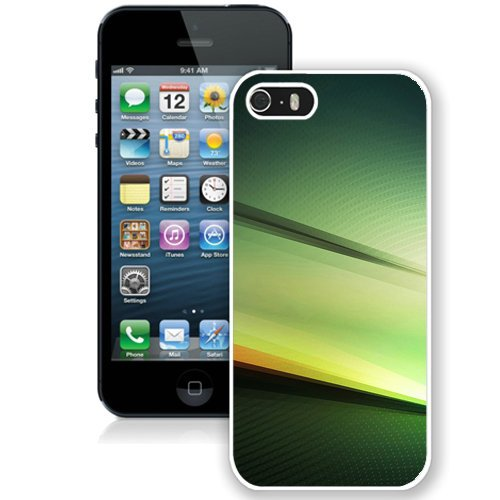 Coque,Fashion Coque iphone 5S Green Spectrum blanc Screen Cover Case Cover Fashion and Hot Sale Design