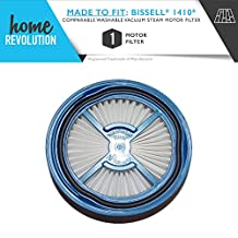 Bissell 1410 Symphony Hard Floor Vacuum & Steam Motor Filter Compatible Kit; Home Revolution Brand Replacement