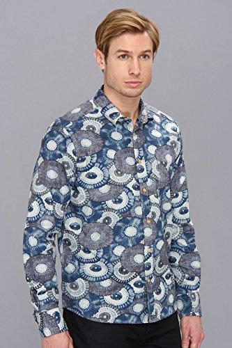 Levi's? Made & Crafted Men's Classic Shirt Indigo Flowers Button-up Shirt EU 1 (US SM)