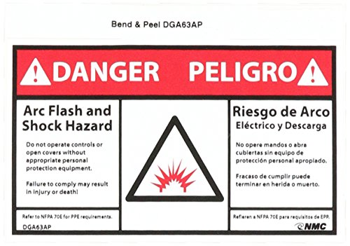 Bilingual Hazard Warning Labels (NMC DGA63AP Bilingual Arc Flash Label, Legend