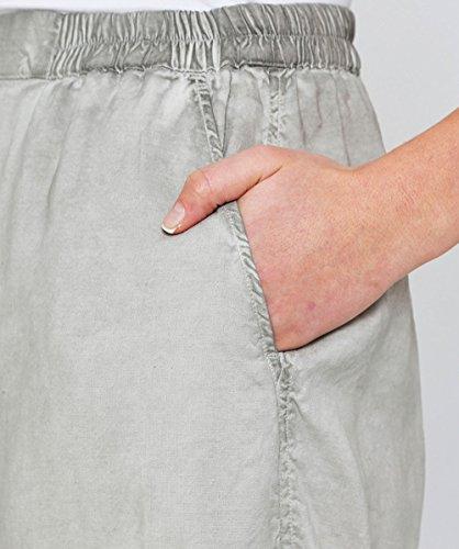 Grizas Damen zugeschnittene Leinenhosen Gewaschen Beige Beige smD0vgb