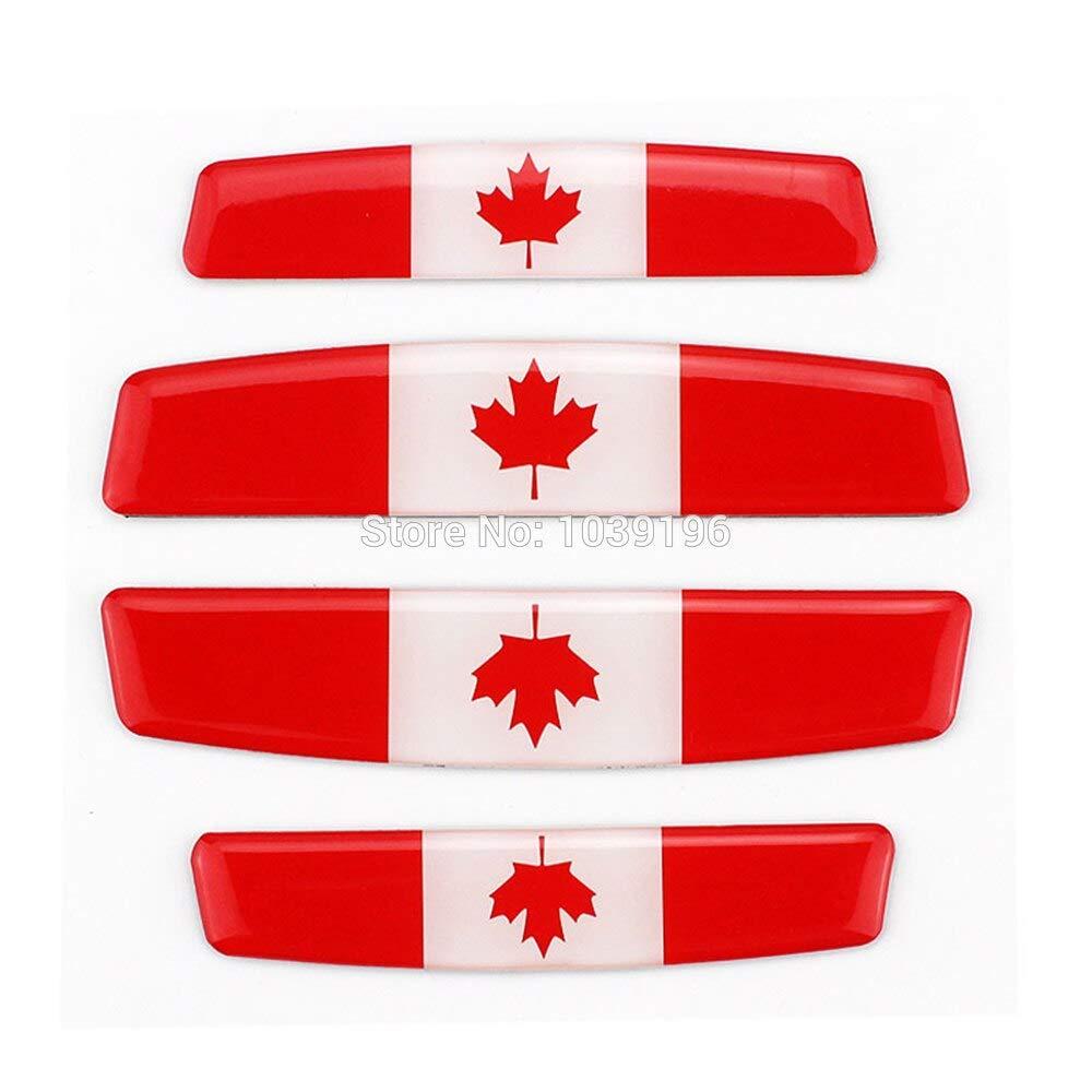 4 x Car Styling Door Edge Guard Protector Strips Anti-Collision Anti-Scratch Trim Door Edge Guard Stickers for Canada Flag Zizu store