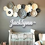 Nursery Letters - Baby Nursery Wall Hanging Letters in Script Font - Baby Name Sign - Kids Room Decor - Housewarming Gift - Nursery Decor - dad gifts - gifts for mom