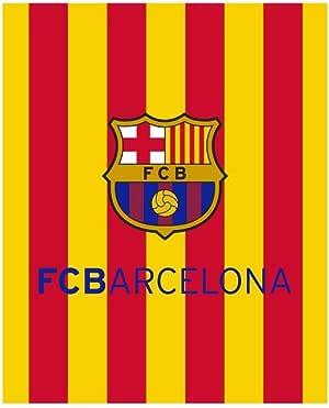 TEXTIL TARRAGO FCB Barcelona Manta Coral con Tacto Suave Senyera Catalunya Bandera Cataluña Barça FCBARCELONA: Amazon.es: Hogar