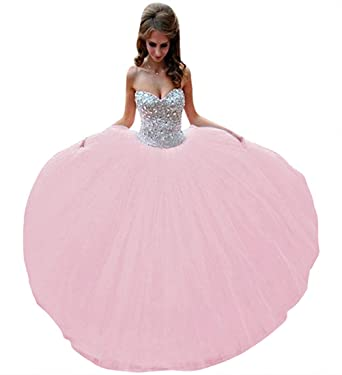 0d13cf298c2 Lovelybride Captivating Pink Crystal Beaded Quinceanera Dress 2015 Party  Debutante Gowns (2)