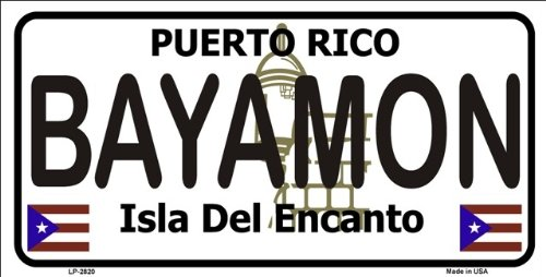 Bayamon Puerto Rico Novelty State Background Metal Novelty License Plate Tag Sign