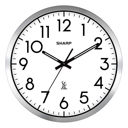 Compare Price Sharp Digital Atomic Wall Clock On