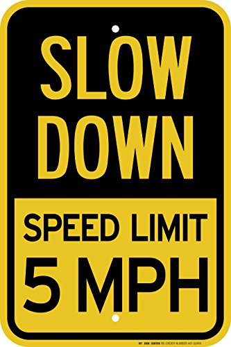 Slow Speed Limit Laminated Sign