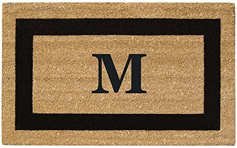 Nedia Home Monogrammed M Superscraper Single Picture Frame, 20 x 36 , Black