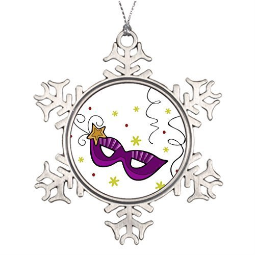 EvelynDavid Snowflake Ornament Tree Branch Decoration Mardi Gras Eye Mask Xmas Tree Decorating Ideas]()