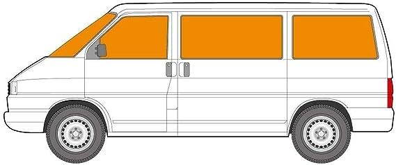 Just Kampers Thermo Jalousie Silberfarben 8 Teiliges Innen Set Kompatibel Mit Vw T4 Transporter 1990 2003 Auto