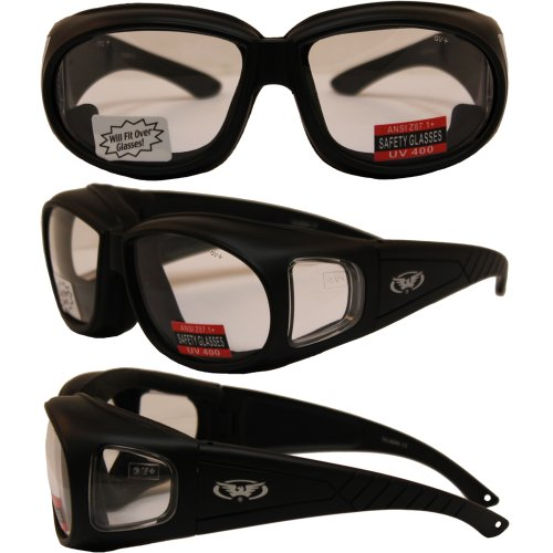 OUTFITTER - Foam Padded Motorcycle Sunglasses - Fits Over Most Prescription - Motorcycle Prescription Glasses