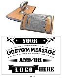 8'' x 12'' Extra Large Custom''Rocker Mount'' Wood Hand Rubber Stamp with Heavy Duty Metal Handle