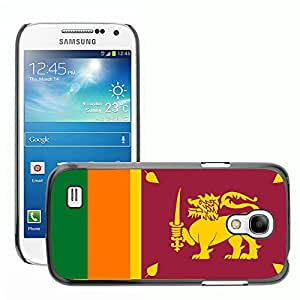 GoGoMobile Slim Protector Hard Shell Cover Case // V00001103 sri lanka National Country Flag // Samsung Galaxy S4 Mini i9190