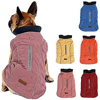 d8684b52c4d1c Cold Winter Dog Pet Coat Jacket Vest Warm Outfit Clothes for Small Medium  Large Dogs Pink S