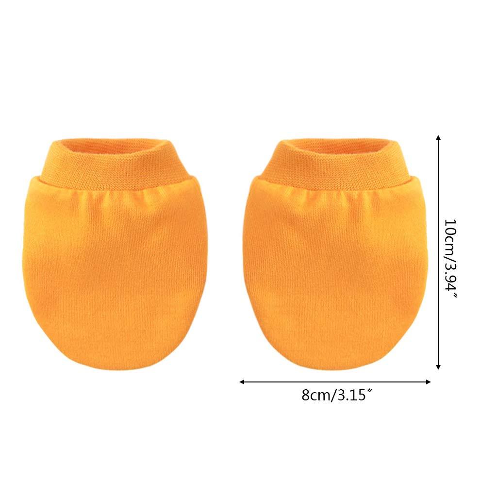 per bambini e bambine protezione antigraffio 116 Guanti per neonati sottili in tinta unita morbidi
