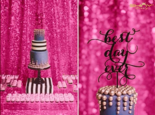 4FTx6FT Sparkly Fuchsia Sequin Photo Backdrop, Photo Booth