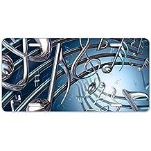 CafePress - 3D Musical Notes Aluminum License Plate - Aluminum License Plate, Front License Plate, Vanity Tag