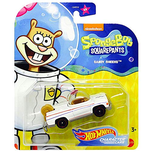 Spongebob Squarepants Collectible Character Car - Compatible with and Made by Hotwheels ~ Sandy The Squirrel ~ GMR59