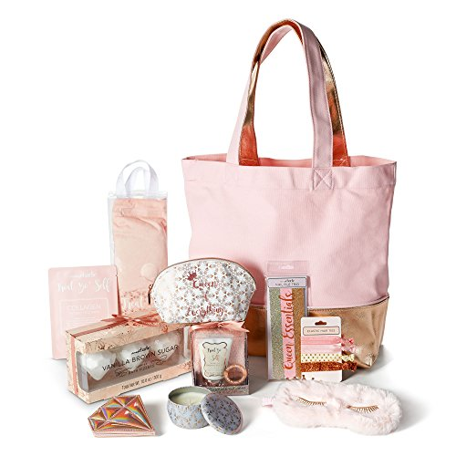 Spa Gift Tote Set for Women: Pampering Bath, Body, Nail and