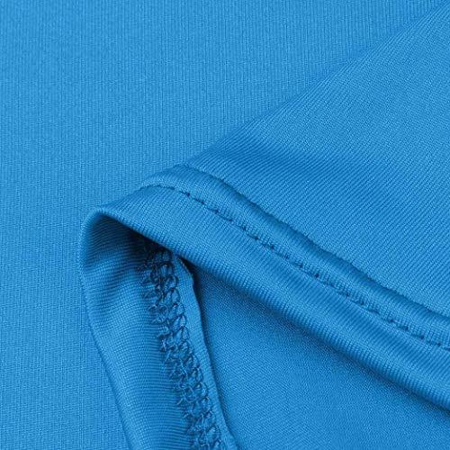 Abiti Estivi A Moda Tinta Marca Maniche Corto Unita Donna Abito Camicetta V Mode 4 Da Spiaggia Scollo Elegante 3 Blau Di Corte Casual stdrxhQC