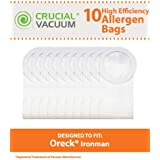 10 Allergen Filtration Vacuum Bags for Oreck XL Ironman Vacuums; Compare to Oreck Part Nos. PKIM765, 61963; Designed & Engineered by Think Crucial