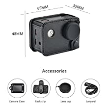Amköv Action Camera Case With Rotatable Back Clip For SJ Action Camera SJ4000 SJ 5000 SJ6000 SJ7000 Sport Camera Case