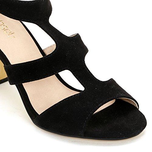 Donna Alti amp;scarpe Scarpe Obsel Sandali Nero FqI4KRw