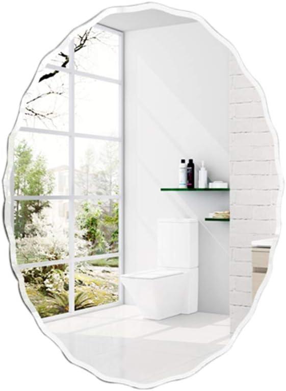 PIGE Espejo de la vanidad del Cuarto de baño, Espejo Colgante Decorativo de Cristal - Espejo en Forma de óvalo Ovalado -50 * 70cm: Amazon.es: Hogar