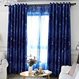 Curtain Finished high Blackout Curtain Fabric Simple Modern Male Bedroom Bay Window Living Room Floor to Ceiling Window (Size : 3 * 2.7m)
