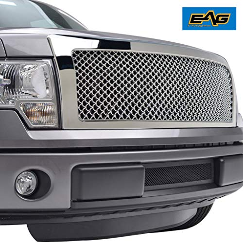 - EAG Chrome ABS Replacement Mesh Upper Grille