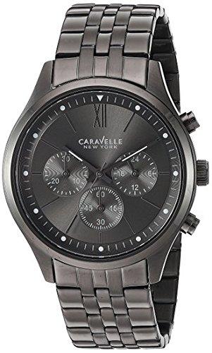 Caravelle New York Men's Quartz Stainless Steel Dress Watch, Color:Grey (Model: (Caravelle Mens Bracelet)