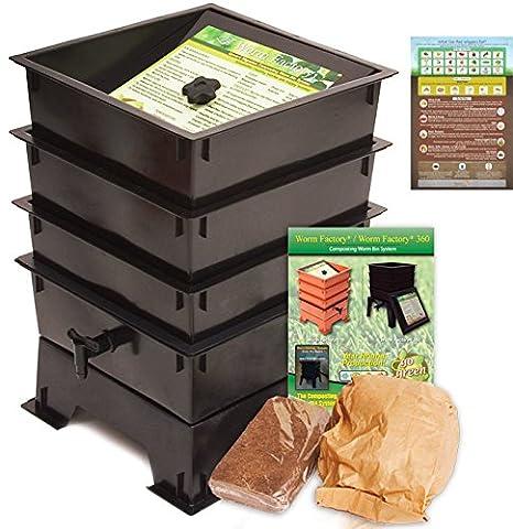 Worm Factory DS3BT 3-Tray Worm Composting Bin + Bonus