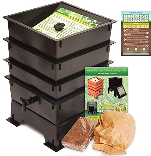 Worm Factory DS3BT 3-Tray Worm Composting Bin + Bonus