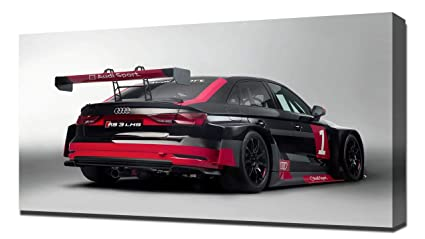 Amazon Com 2017 Audi Rs3 Lms Racecar V4 Canvas Art Print Wall
