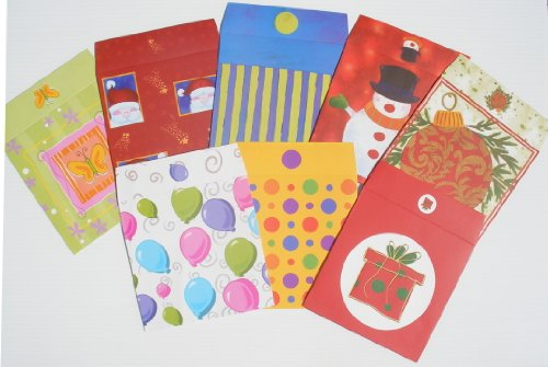 Pack of 8 CD Gift Wrappers Gift Wrap for Compact Discs