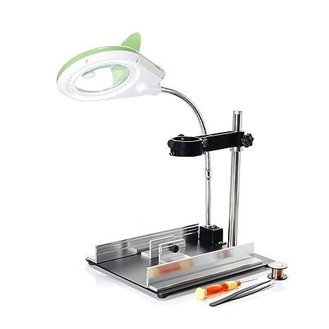 WOAIWOJIA 8X Lupa - Lámpara De Mesa Y Escritorio con Luz Led Ultrabrillante De Ahorro De